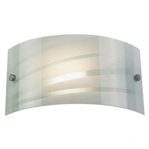 Salsa Glass Wall Light, White 96220-WBWH